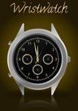κομψό wristwatch Στοκ εικόνα με δικαίωμα ελεύθερης χρήσης