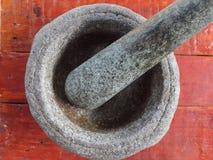 Κονίαμα και γουδοχέρι πετρών Στοκ εικόνα με δικαίωμα ελεύθερης χρήσης