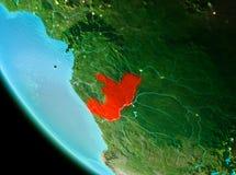 Κονγκό στο κόκκινο το βράδυ απεικόνιση αποθεμάτων