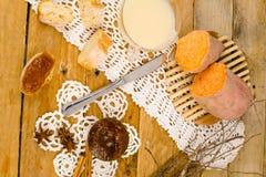 Κονσέρβα γλυκών πατατών Στοκ Φωτογραφίες
