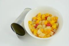 Κονσερβοποιημένο κοκτέιλ φρούτων Στοκ Εικόνες