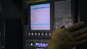 Κονσόλα για τον έλεγχο μιας βιομηχανικής μηχανής φιλμ μικρού μήκους