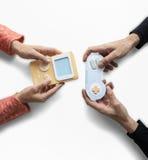 Κονσόλα παιχνιδιών παιχνιδιού δύο ατόμων Στοκ Εικόνα