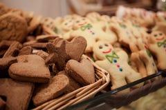 Κοντά μπισκότα στο κιβώτιο Στοκ Εικόνες