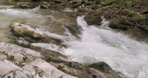 Κοντά στην άποψη των ορμητικά σημείων ποταμού ενός ποταμού απόθεμα βίντεο