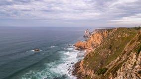 Κοντά στο ακρωτήριο Roca στην Πορτογαλία - βίντεο χρονικού σφάλματος απόθεμα βίντεο