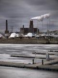 κοντά στο λιμένα ρύπανσης Στοκ εικόνα με δικαίωμα ελεύθερης χρήσης