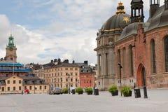 κοντά στο riddarholmskyrkan τετράγωνο Στοκ φωτογραφίες με δικαίωμα ελεύθερης χρήσης