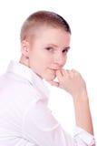 κοντή γυναίκα τριχώματος Στοκ Φωτογραφίες