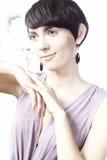 κοντή γυναίκα τριχώματος Στοκ Φωτογραφία