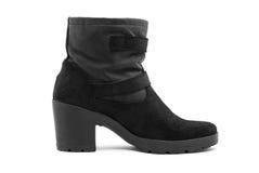 Κοντή μπότα δέρματος γυναικών στοκ εικόνες με δικαίωμα ελεύθερης χρήσης