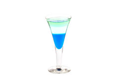 Κοντή μπλε λέσχη κοκτέιλ Στοκ φωτογραφία με δικαίωμα ελεύθερης χρήσης