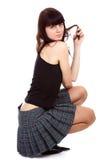 κοντή φούστα κοριτσιών Στοκ εικόνα με δικαίωμα ελεύθερης χρήσης