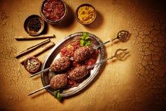 Κοντός σωρός του ψημένου ινδικού επίπεδου chapati ψωμιού Στοκ Εικόνες