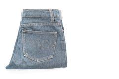 κοντός Jean στο λευκό Στοκ Εικόνα