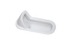 Κοντόχοντρο ιαπωνικό ύφος τουαλετών που απομονώνεται στο άσπρο υπόβαθρο Στοκ Φωτογραφία