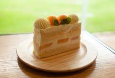 Κοντό κέικ πεπονιών Στοκ φωτογραφία με δικαίωμα ελεύθερης χρήσης