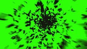 Κοπάδι των ροπάλων Κοπάδι των πουλιών μυστική έννοια αποκριών Πράσινο μήκος σε πόδηα οθόνης διανυσματική απεικόνιση