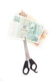 Κοπή αποταμίευσης χρημάτων Στοκ εικόνες με δικαίωμα ελεύθερης χρήσης
