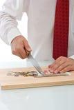 κοπή νομίσματος επιχειρη στοκ φωτογραφία με δικαίωμα ελεύθερης χρήσης