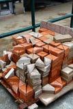 κοπή τούβλου Στοκ Φωτογραφία