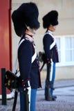 ΚΟΠΕΓΧΑΓΗ, ΔΑΝΙΑ - 15 ΑΥΓΟΎΣΤΟΥ 2016: Δανικές βασιλικές φρουρές ζωής Στοκ Εικόνα