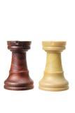 κοράκι κομματιών σκακιού Στοκ Φωτογραφία