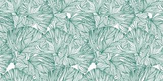Κοράλλι ή γραμμικό άνευ ραφής σχέδιο αλγών doodle ελεύθερη απεικόνιση δικαιώματος
