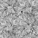 Κοράλλι ή φύκι στο ωκεάνιο άνευ ραφής σχέδιο νύχτας ελεύθερη απεικόνιση δικαιώματος