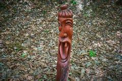 Κορέα ` s που χαμογελά τον αρσενικό πόλο τοτέμ στη λίμνη Sanjeong Pocheon, Νότια Κορέα Στοκ φωτογραφία με δικαίωμα ελεύθερης χρήσης