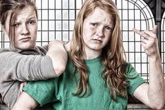 κορίτσια άτακτα στοκ εικόνα με δικαίωμα ελεύθερης χρήσης