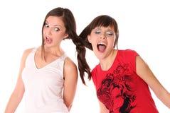 κορίτσια ένα πλεξουδών ε&phi Στοκ εικόνες με δικαίωμα ελεύθερης χρήσης