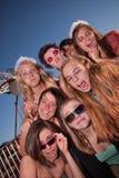 Κορίτσια έξω από την παραγωγή των προσώπων Στοκ Φωτογραφίες