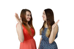 κορίτσια αρκετά εφηβικά δύο Στοκ εικόνα με δικαίωμα ελεύθερης χρήσης