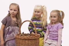 κορίτσια γατών Στοκ εικόνες με δικαίωμα ελεύθερης χρήσης