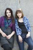 κορίτσια δύο αστικά Στοκ φωτογραφίες με δικαίωμα ελεύθερης χρήσης