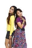 κορίτσια δύο φίλων Στοκ Εικόνα