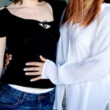 κορίτσια δύο Στοκ εικόνες με δικαίωμα ελεύθερης χρήσης