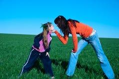 κορίτσια δύο Στοκ Εικόνες