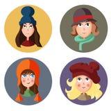 Κορίτσια εικονιδίων Στοκ Εικόνα
