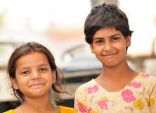 κορίτσια ευτυχή λίγα Στοκ Εικόνες