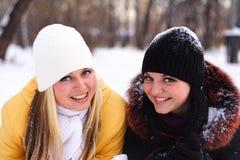κορίτσια ευτυχή Στοκ Εικόνες