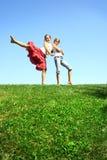 κορίτσια ευτυχή στοκ εικόνα