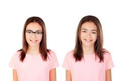Κορίτσια εφήβων διδύμων Στοκ εικόνα με δικαίωμα ελεύθερης χρήσης