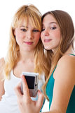 κορίτσια εφηβικά δύο Στοκ Εικόνες