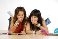 κορίτσια εφηβικά Στοκ εικόνες με δικαίωμα ελεύθερης χρήσης