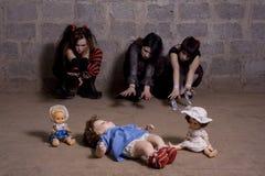 κορίτσια θλιβερά Στοκ Φωτογραφίες