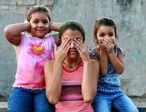 κορίτσια ΙΙ τρία σοφά Στοκ Εικόνες