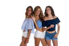 Κορίτσια καλύτερων φίλων εφήβων εσενών ευτυχή από κοινού Στοκ εικόνα με δικαίωμα ελεύθερης χρήσης