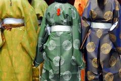 Κορίτσια κιμονό Στοκ εικόνα με δικαίωμα ελεύθερης χρήσης